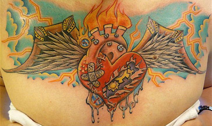 48d874d732af6 10 Best Broken Heart Tattoo Ideas - Tattoo.com