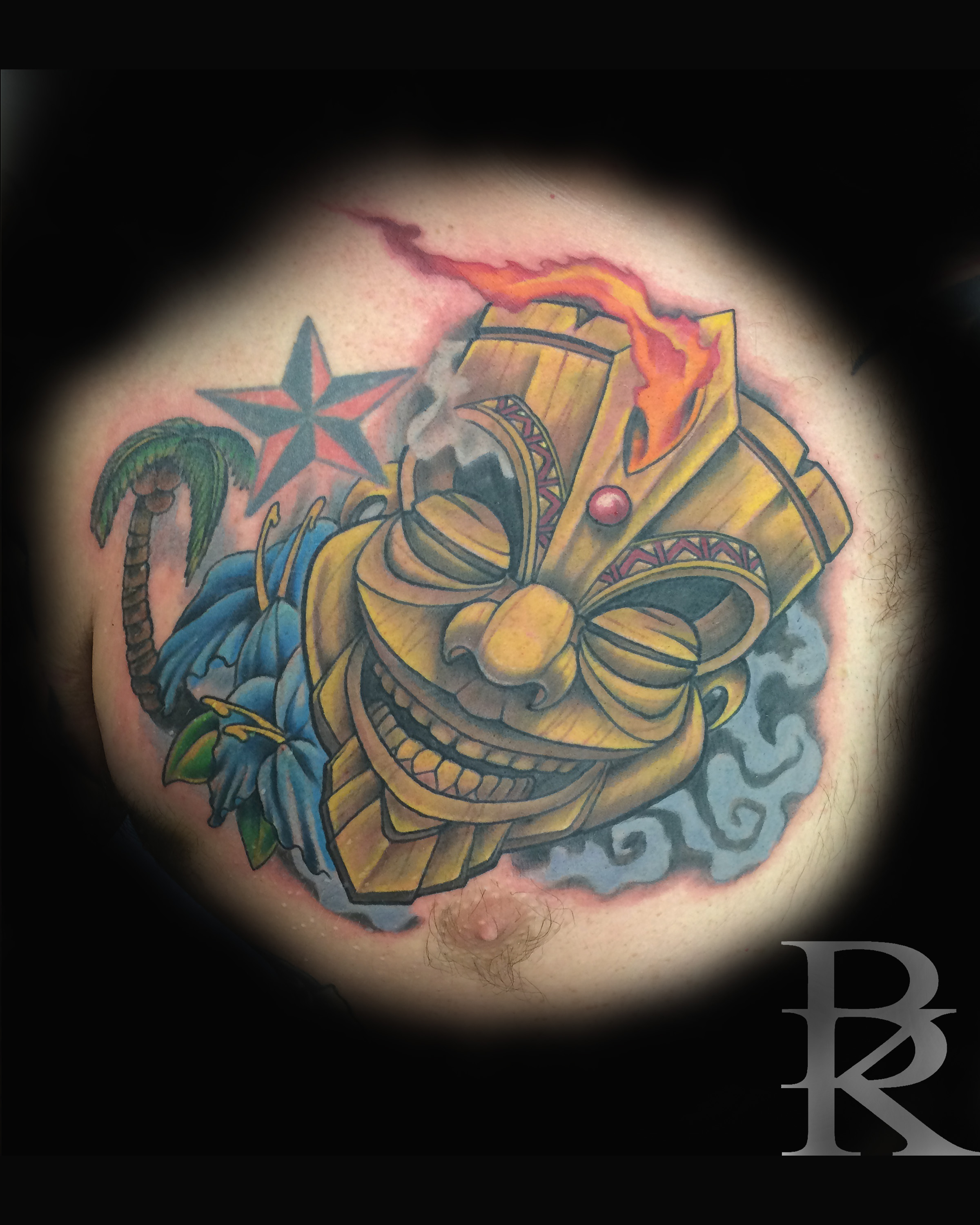 Tribal Flaming Skull Tattoo Com