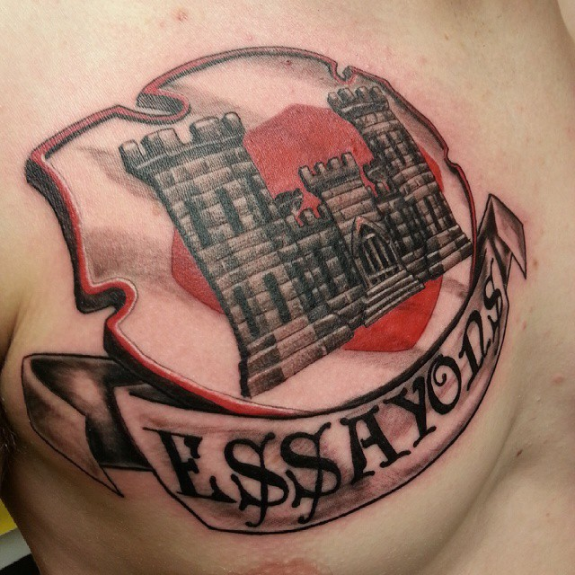 Army engineer tattoo images galleries for Combat engineer tattoo