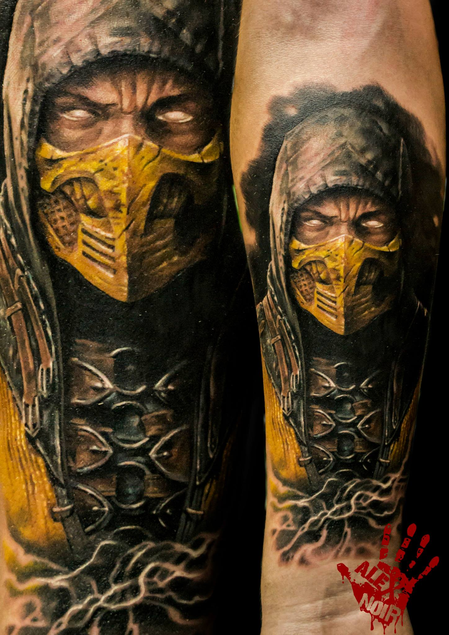 Liu Kang Tattoo: Scorpion (Mortal Kombat)