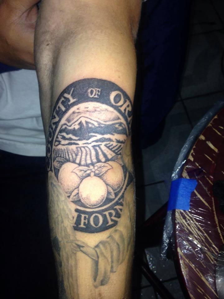 Orange county ca seal for Orange county tattoo