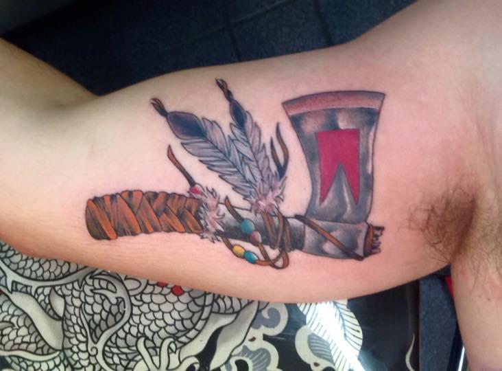 1c284cbd6 Native American tomahawk tattoo - Tattoo.com