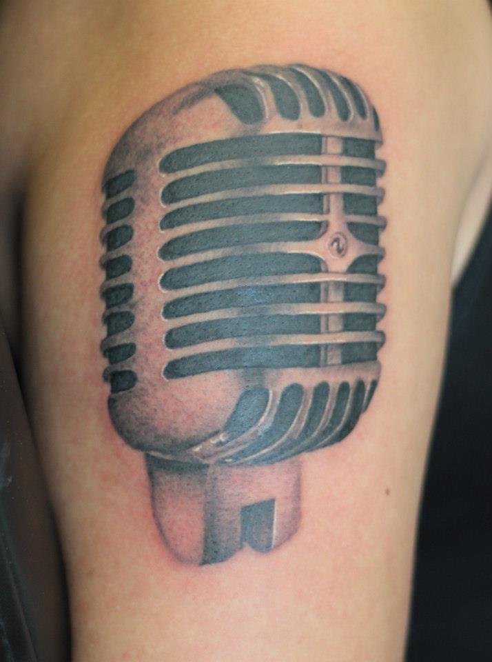 Vintage Microphone Tattoo Tattoo Com