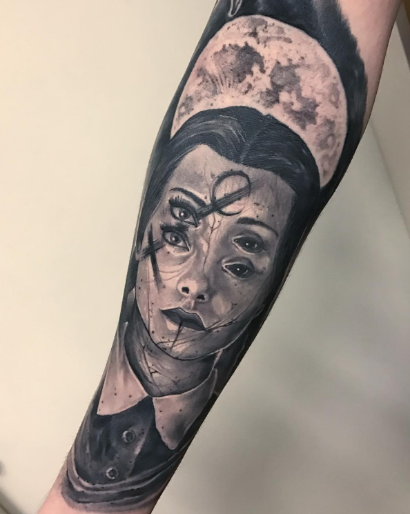 Virgo Symbol Tattoo