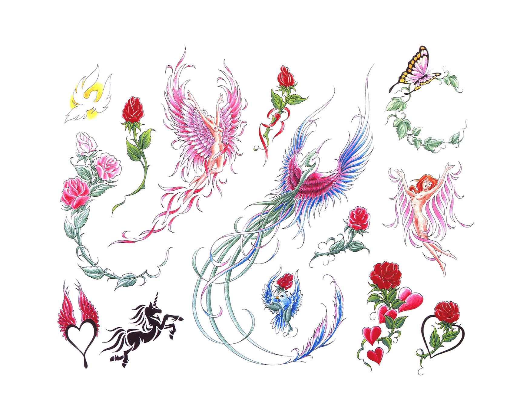 Vine Flower Erfly Tattoo Designs Flowers Healthy