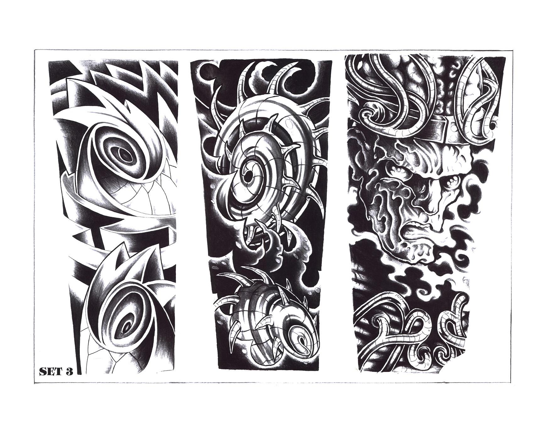 Gray Black Tattoo Design Tattoocom