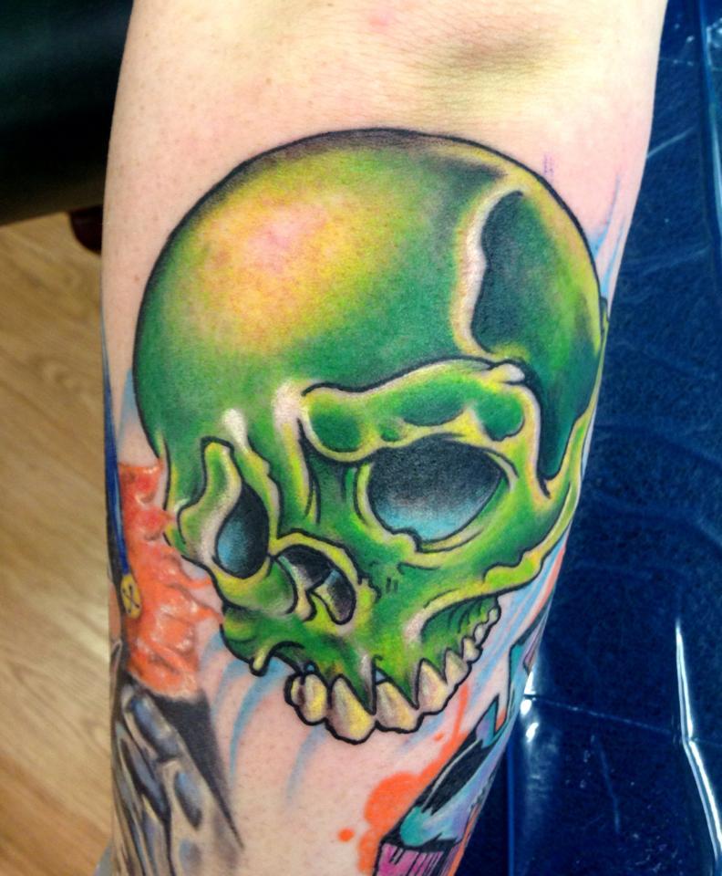 New School Skull Tattoocom
