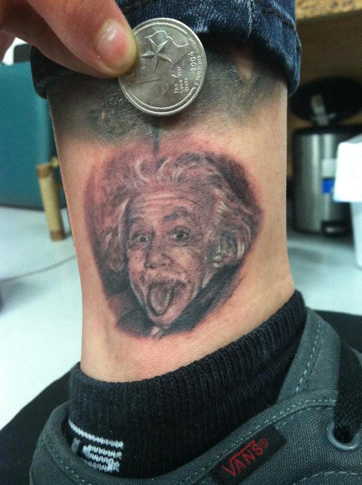 Small Portrait Of Albert Einstein Tattoocom