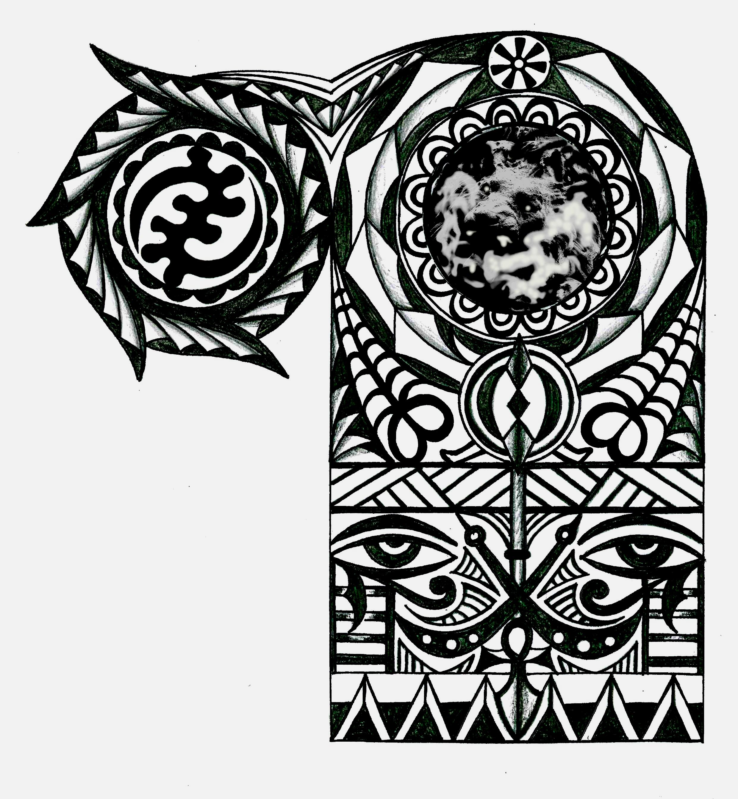 adinkra african warrior tribal half sleeve tattoo. Black Bedroom Furniture Sets. Home Design Ideas