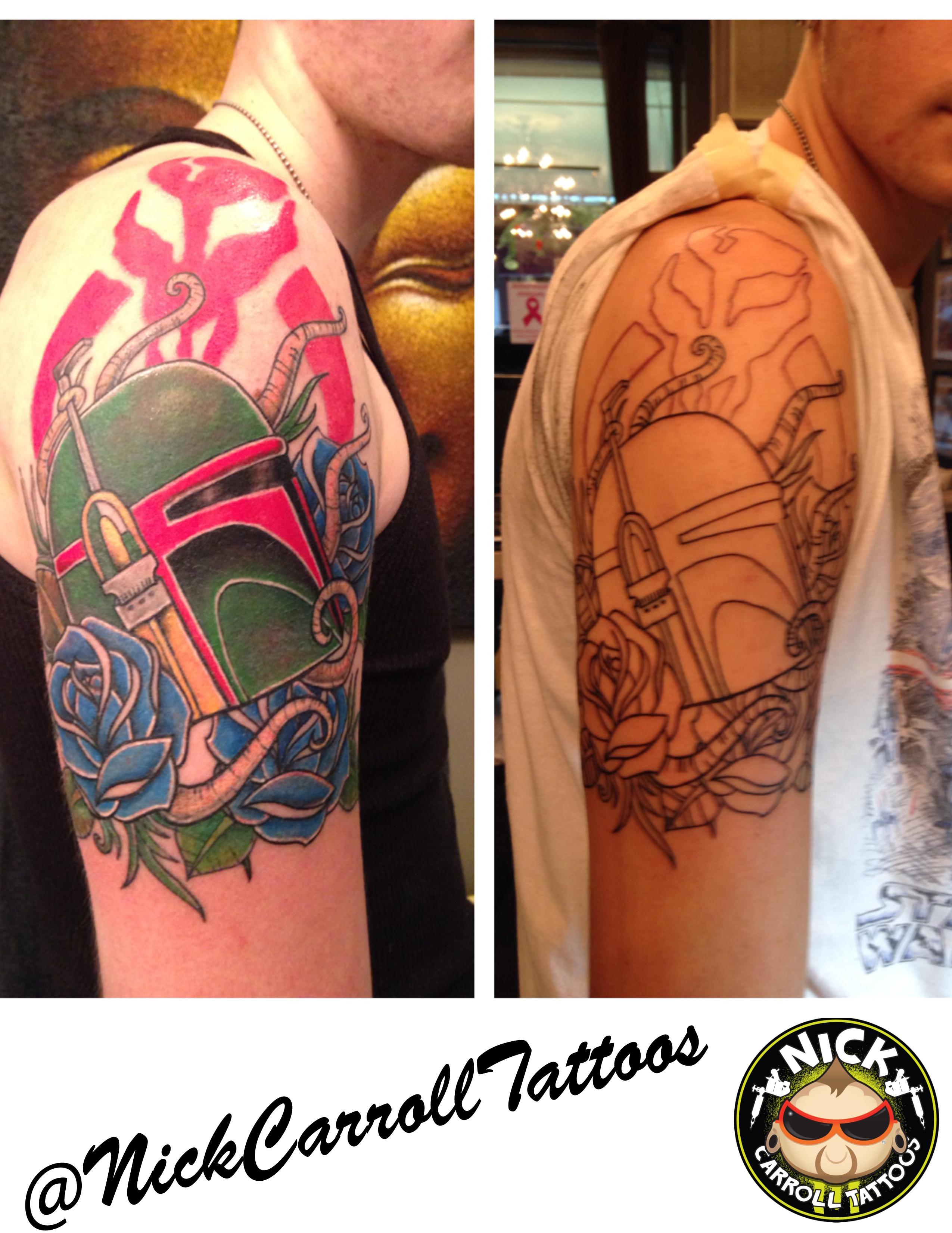 Boba Fett By Nick Carroll At Body Art And Soul Tattoos In Upper Darby Pa Nickcarroll509 Gmail Com Tattoo Com
