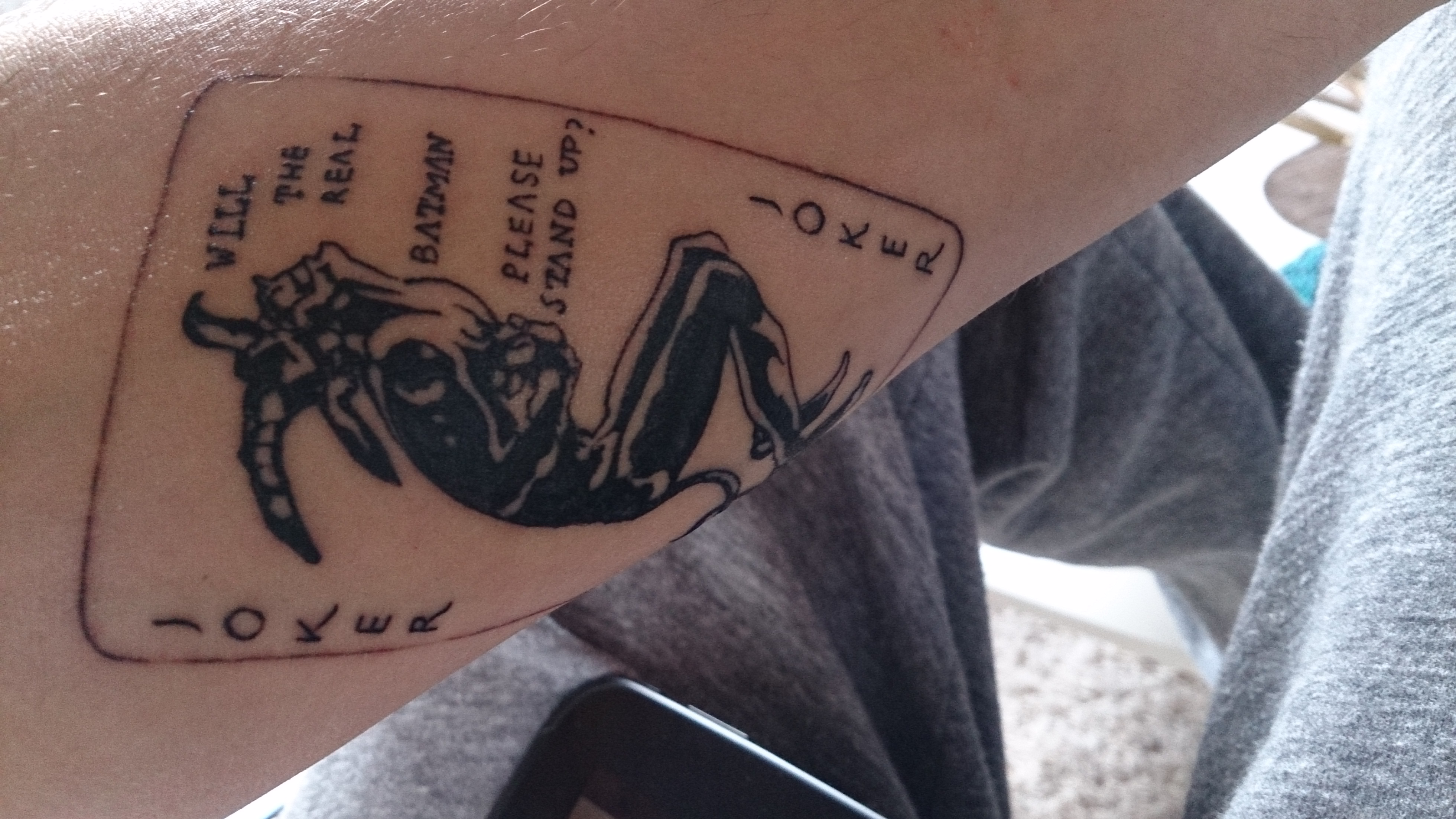 Jokercard From The Dark Knight Movie Tattoo Com