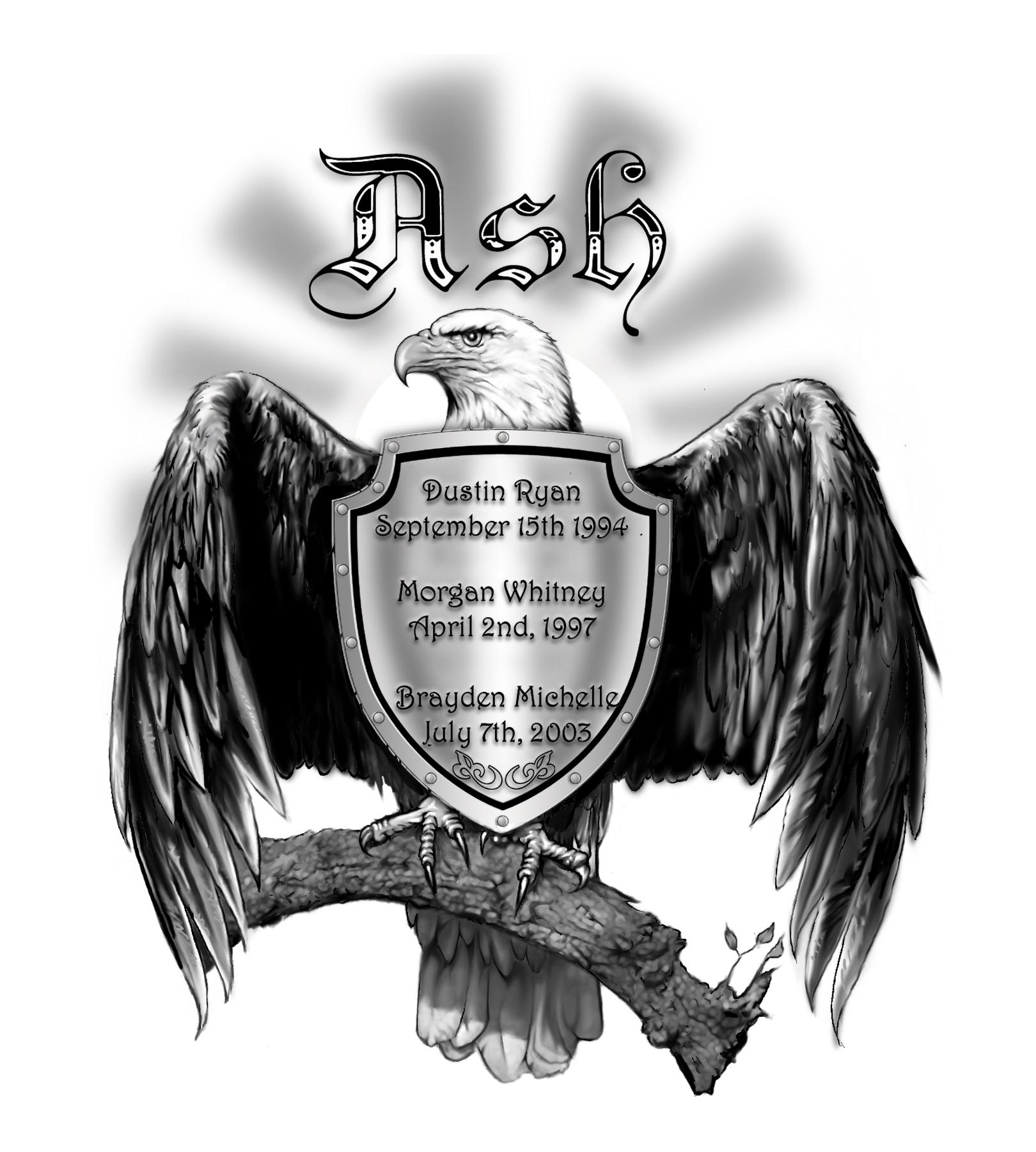Ash Family Honour War Vet Daryl Ash American Blad Eagle Strength