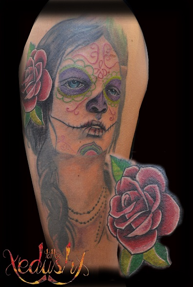 Catrina Color Tattoo Tattoo Com