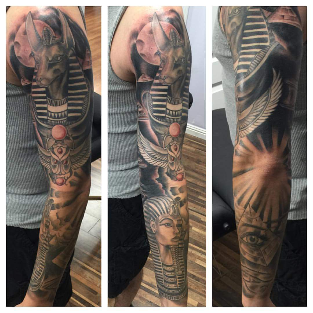 Egyptian Full Sleeve - Tattoo.com