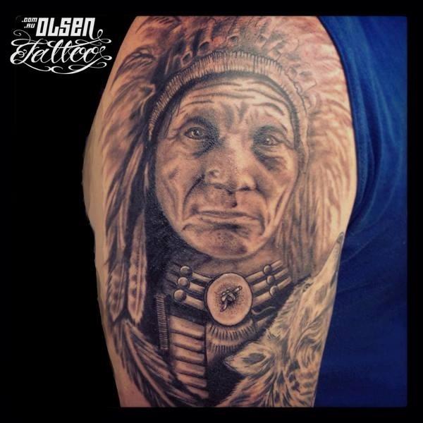 Native American Half Sleeve By Kris Olsen Surf N Ink Gold