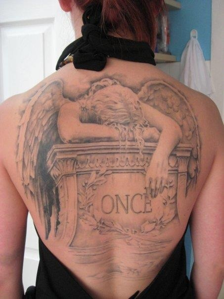 Angel Over Gravestone Tattoocom