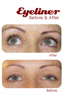 Eyeliner And Eyebrows Before And After S Permanent Makeup
