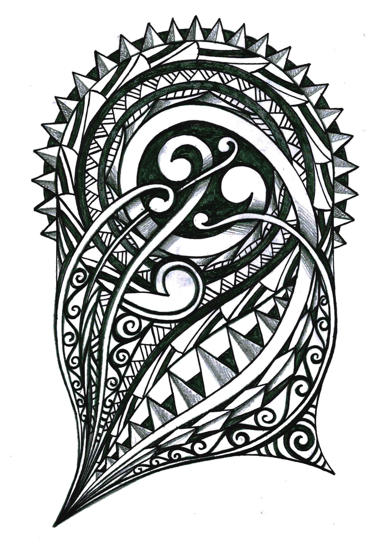tribal polynesian warrior tattoo design. Black Bedroom Furniture Sets. Home Design Ideas