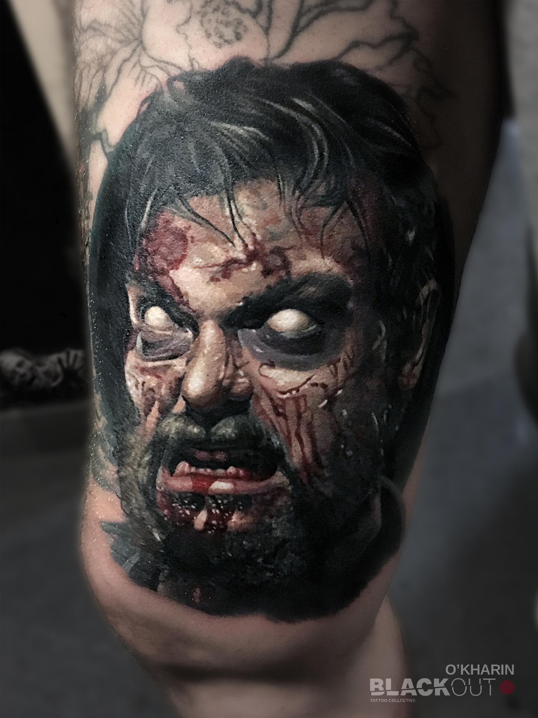 Kingpin Tattoo: ALL SEEING EYE , Stipple , Frankie Bonze , Axys Rotary