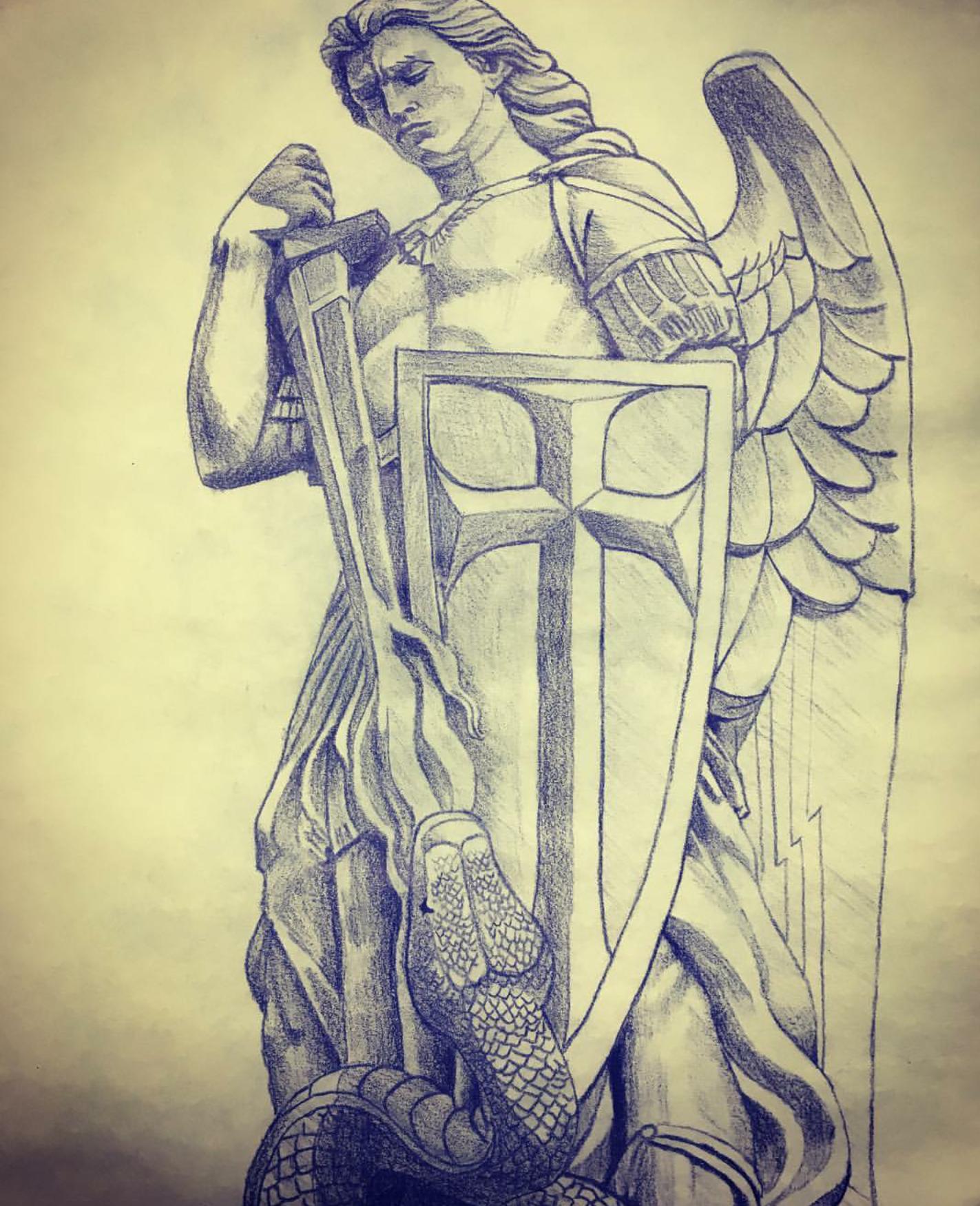 Saint jude or saint Michael or a chi rho - Tattoo.com