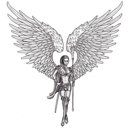 guardian angel back tattoo. Black Bedroom Furniture Sets. Home Design Ideas