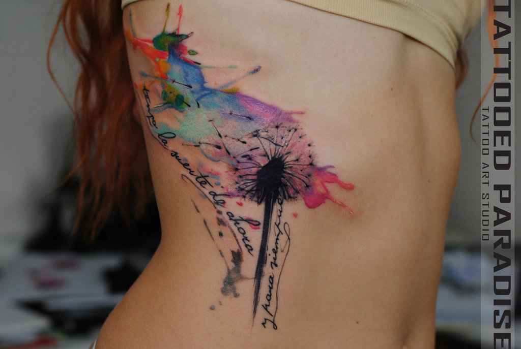 bbc372d043f3a Watercolor snowflakes and swirls... - Tattoo.com