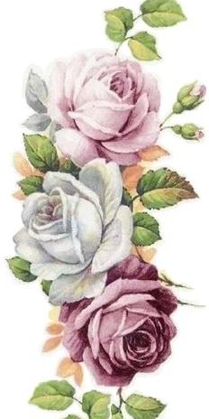 3 Roses 1 Light Pink 1 Light Blue Tattoocom