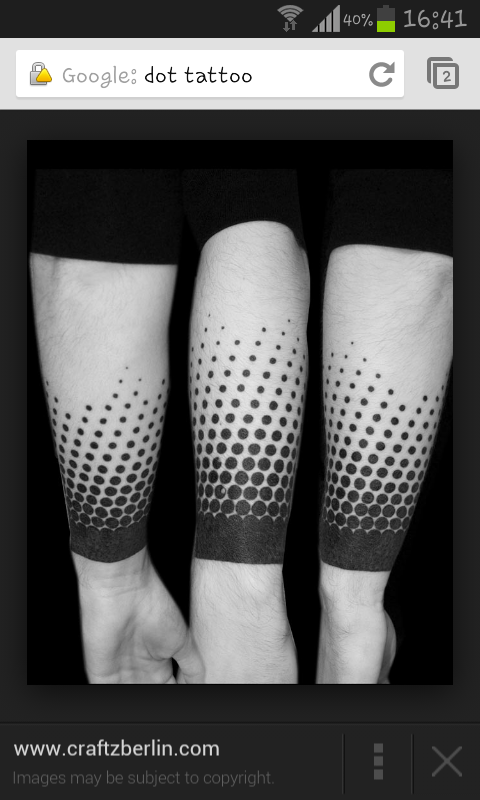 Lines And Dots Tattoo: Dots And Lines Tattoo. Like A Maze Design.