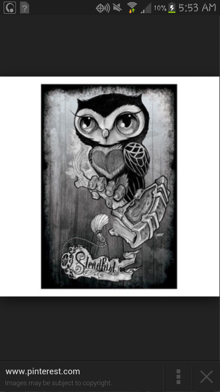 New School Owl With A Harry Potter Theme Tattoo Com
