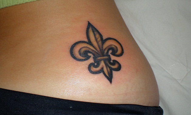 Colored Fleur De Lis On Ankle Tattoocom