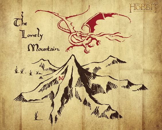 Nice The Hobbit Book Picture Of Smaug Above The Misty Mountains