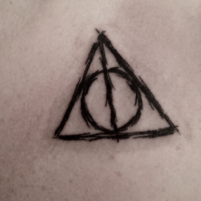 A Harry Potter Homage The Deathly Hallows Symbol Tattoo