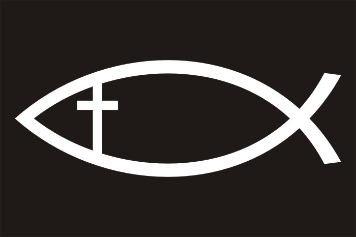 It Is The Christianity Fish With A Cross Inside It Tattoo