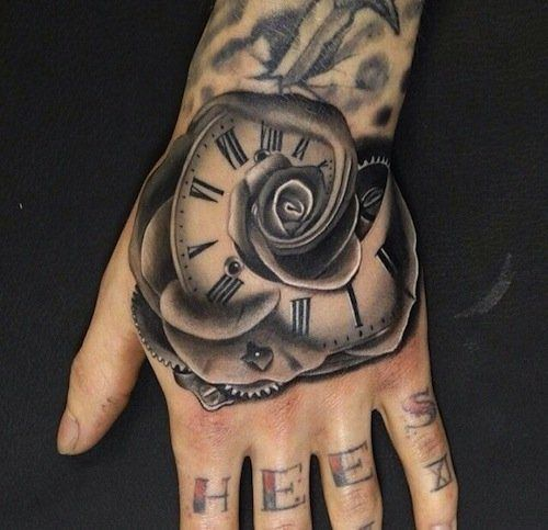 A Rose With Roman Numeral Numbers Inside The Petal Tattoo Com