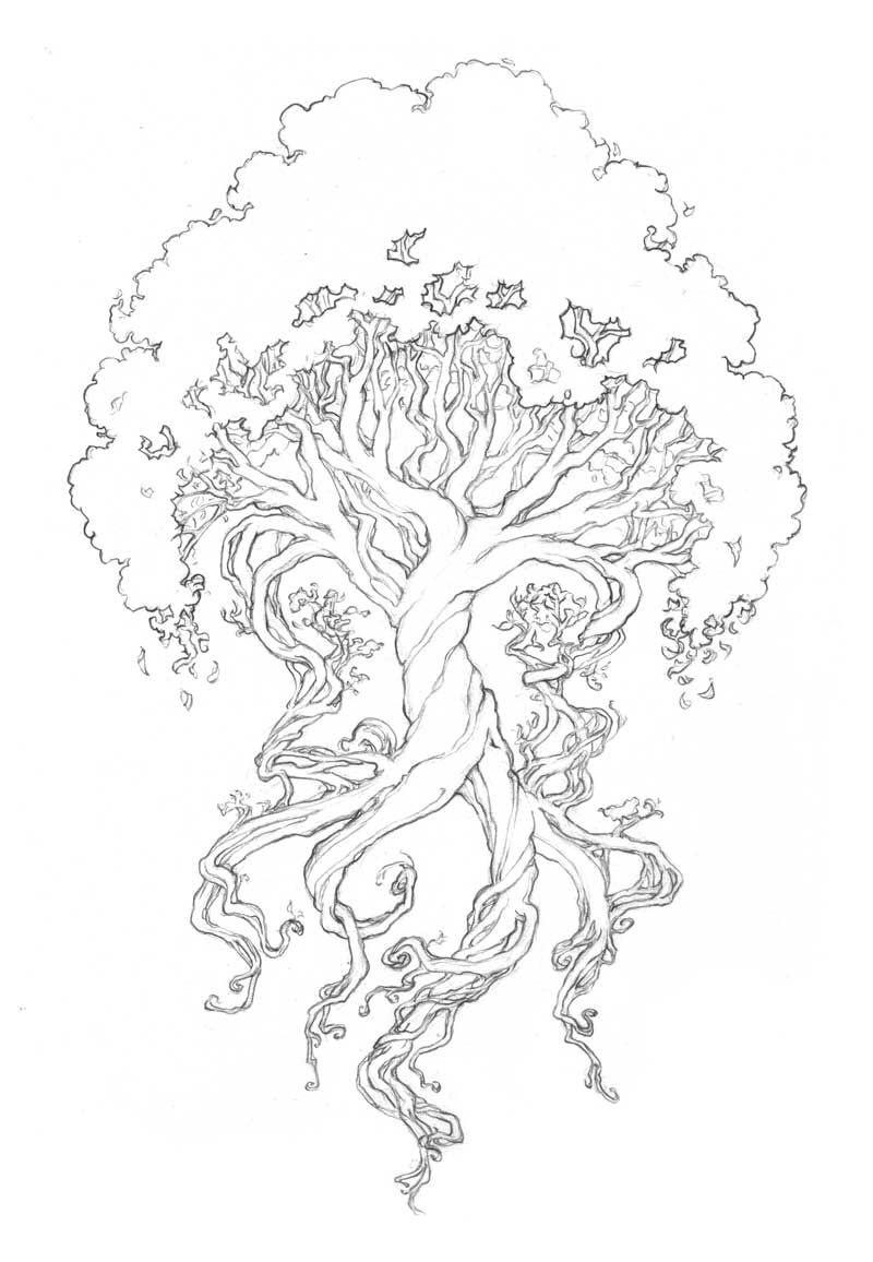 Watercolor Norsetree Of Life Tattoocom