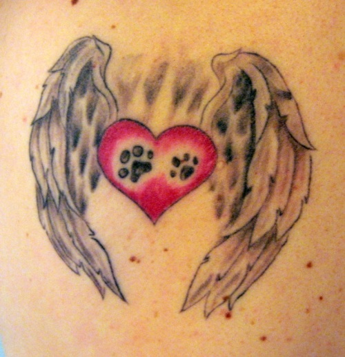 Heart Paws And Angel Wings Tattoocom