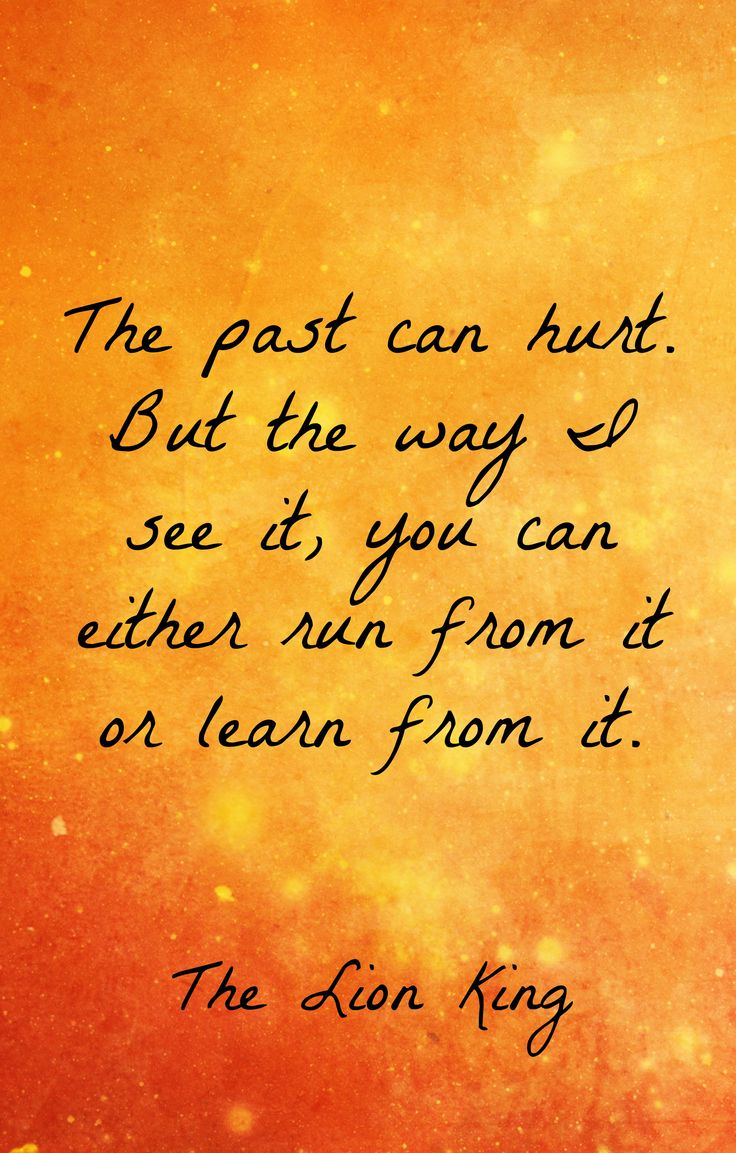 The past can hurt, but the way i see it you can - Tattoo.com