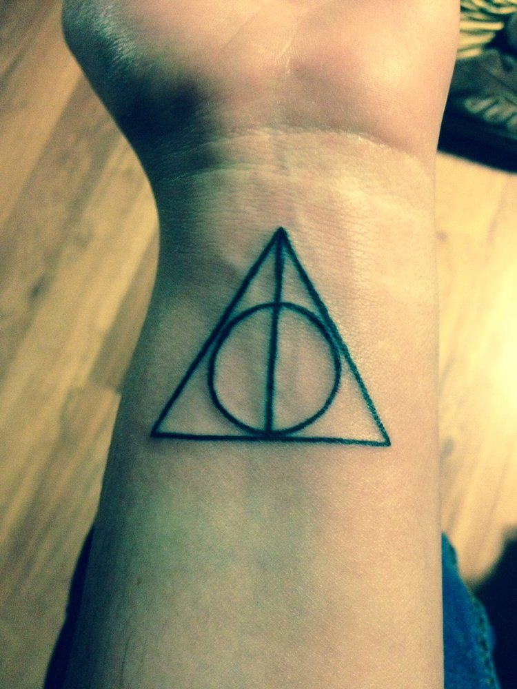 Deathly Hallows Symbol Triangle With Circle And Tattoo