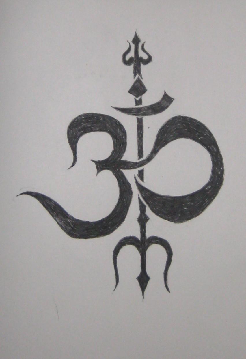 Om trishul religious symbol trishul is similar tattoo om trishul religious symbol trishul is similar buycottarizona Gallery