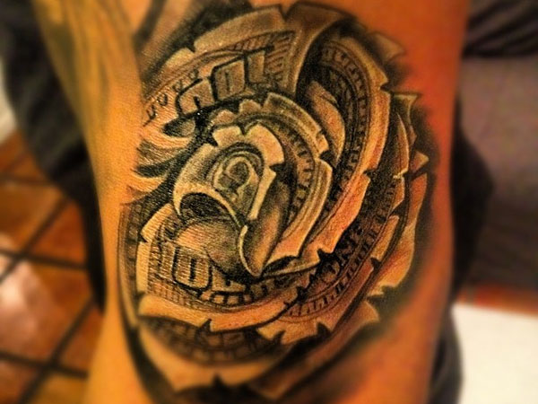 Brian Dollar Tattoo: 100 Dollar Bill Roses Collage/collash To Cover My Head