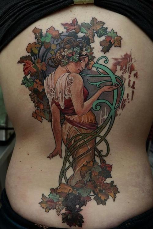 Art Nouveau Flower Tattoo: Stunning Tattoos Inspired By Alphonse Mucha