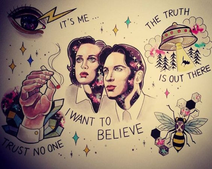 """Awesome """"X-Files"""" Tattoos For Those Who Want To Believe"""